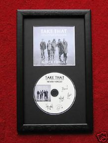 TAKE THAT - NEVER FORGET CD DISC MEMORABILIA presentation